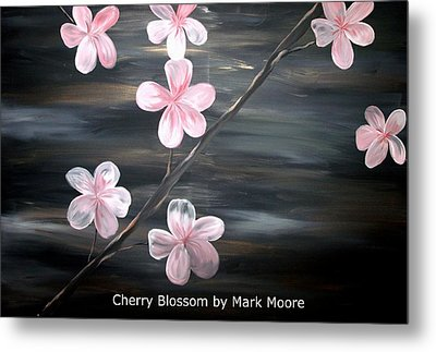 Cherry Blossom By Mark Moore Metal Print by Mark Moore