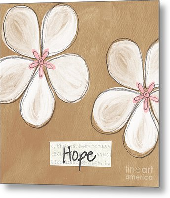 Cherry Blossom Hope Metal Print by Linda Woods