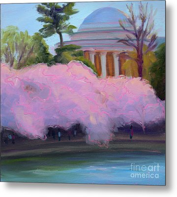 Cherry Blossoms In Afternoon Light Metal Print by Julie Hart