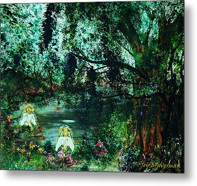 Cherub Lake Metal Print by Joy Braverman
