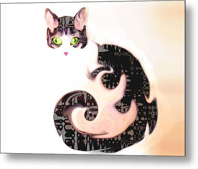 Cheshire Effect Metal Print