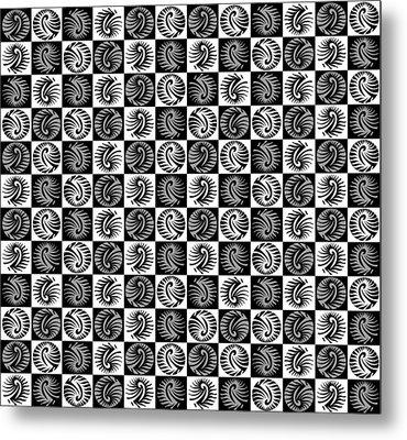 Chess Board Metal Print by Sumit Mehndiratta