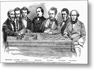 Chess Players, 1855 Metal Print by Granger