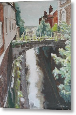 Chester Canal Metal Print by Veronica Coulston