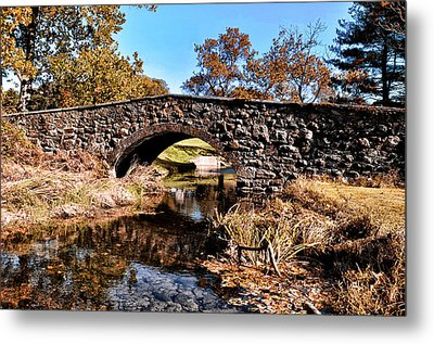 Chester County Bow Bridge Metal Print by Bill Cannon