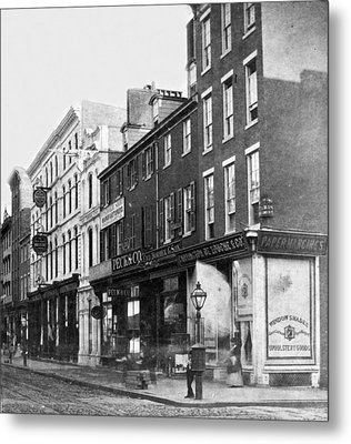 Chestnut Street - South Side Of Philadelphia - C 1870 Metal Print by International  Images