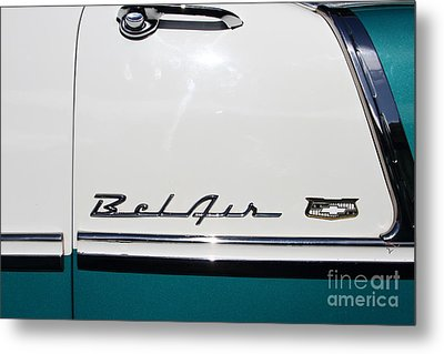 Chevrolet Bel-air . Blue . 7d12849 Metal Print by Wingsdomain Art and Photography