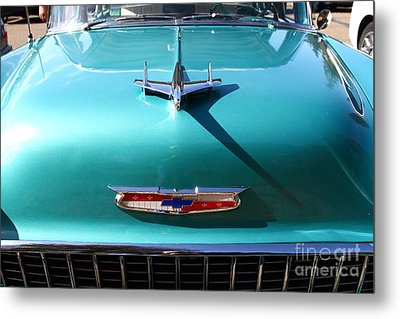 Chevrolet Bel-air . Blue . 7d12850 Metal Print by Wingsdomain Art and Photography