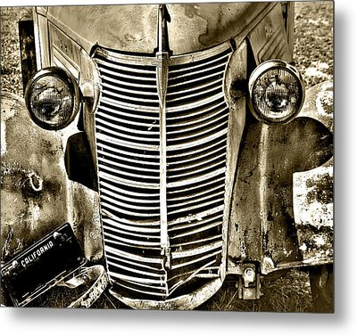 Chevy Grill Work Metal Print by William Havle