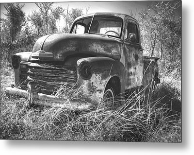 Chevy In A Field Metal Print by Paul Huchton