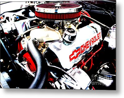 Metal Print featuring the digital art Chevy Power Plant by Tony Cooper