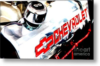 Metal Print featuring the digital art Chevy Power by Tony Cooper