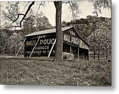 Chew Mail Pouch Sepia Metal Print by Steve Harrington