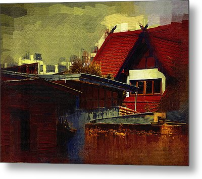 Chiang Mai House Metal Print by Fran Woods