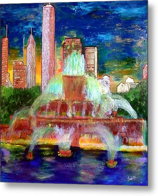 Chicacgo Buckingham Fountain Metal Print by Char Swift