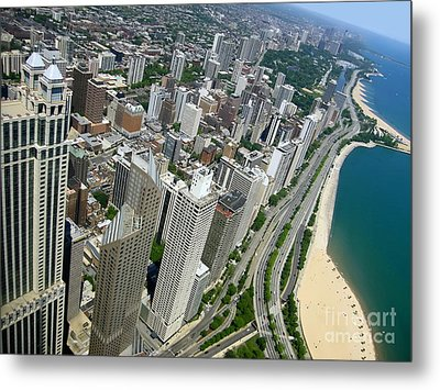Chicago Aerial View Metal Print by Sophie Vigneault