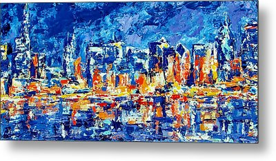 Chicago Lake Front Metal Print by Kat Griffin