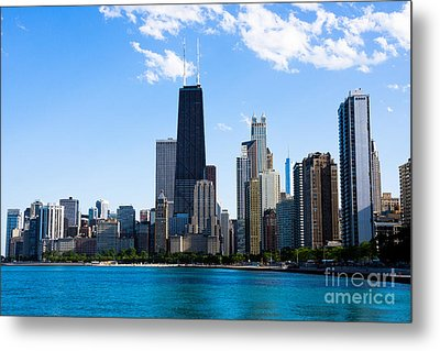 Chicago Lakefront With John Hancock Building Metal Print by Paul Velgos