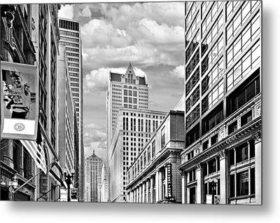 Chicago Lasalle Street Metal Print by Christine Till
