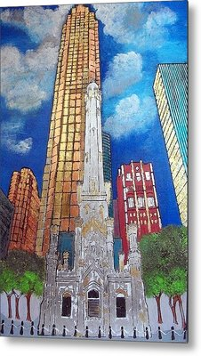 Chicago Old Water Tower Metal Print by Char Swift