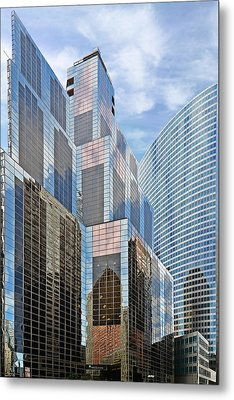 Chicago - One South Wacker And Hyatt Center Metal Print