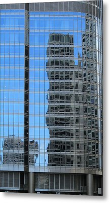 Chicago Reflection-2 Metal Print by Todd Sherlock
