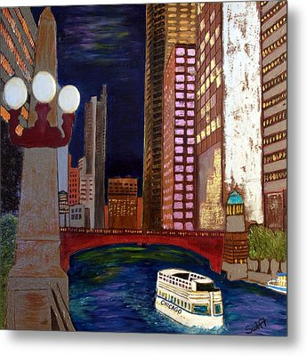 Chicago River Metal Print by Char Swift