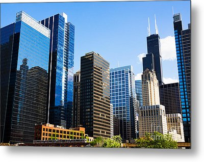 Chicago Skyline Downtown City Buildings Metal Print by Paul Velgos
