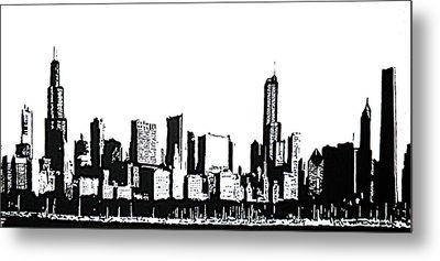 Chicago Skyline Metal Print by Matthew Formeller