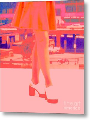 Metal Print featuring the photograph Chicago Vintage Chic by Ann Johndro-Collins