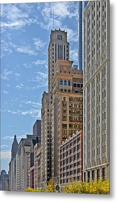 Chicago Willoughby Tower And 6 N Michigan Avenue Metal Print