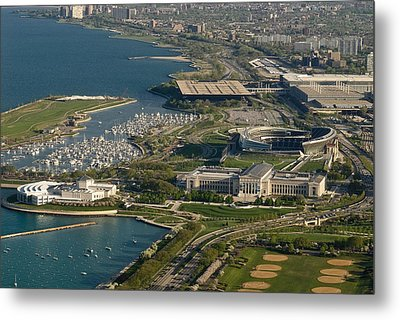 Chicagos Lakefront Museum Campus Metal Print by Steve Gadomski