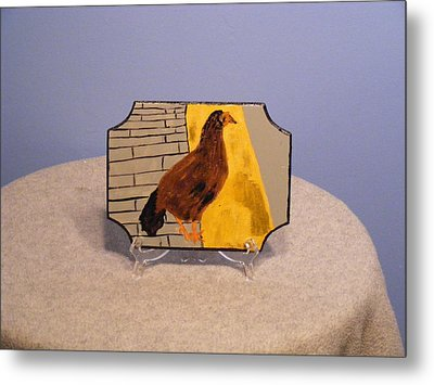 Chicken In Key West Metal Print by Tina Brown