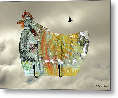 Chicken Pie Metal Print by Sarah King