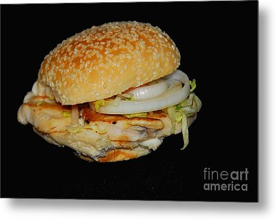 Metal Print featuring the photograph Chicken Sandwich by Cindy Manero