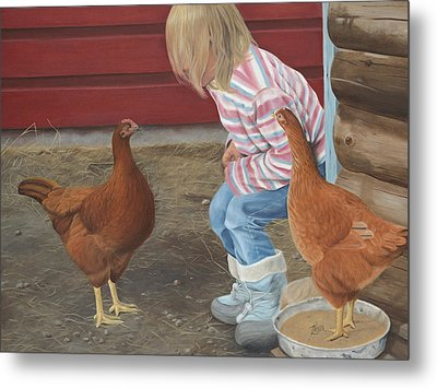 Chicken Talk Metal Print