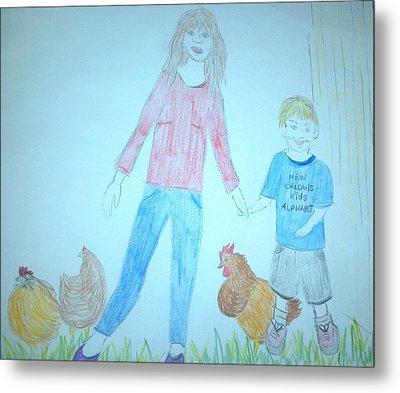 Chickens Metal Print by Julie Butterworth