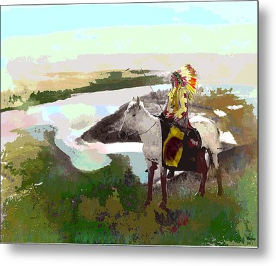 Chief Hand Metal Print by Charles Shoup
