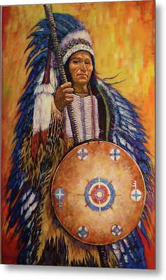 Metal Print featuring the painting Chief Two by Charles Munn