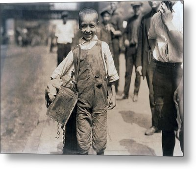 Child Labor, Bootblack Near Trinity Metal Print by Everett