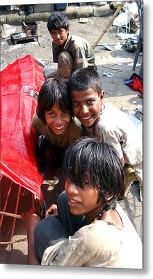 Children Of Labor In India Metal Print