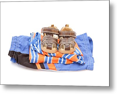 Child's Clothing Metal Print by Tom Gowanlock