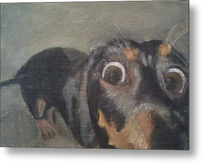Metal Print featuring the painting Chili Dog by Jessmyne Stephenson