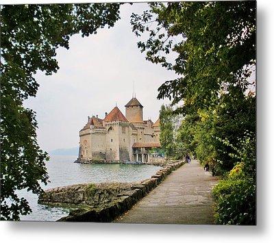 Chillon Castle Metal Print by Marilyn Dunlap