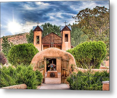 Chimayo Church Metal Print by Anna Rumiantseva