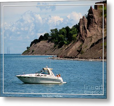Chimney Bluffs On Lake Ontario Metal Print by Rose Santuci-Sofranko
