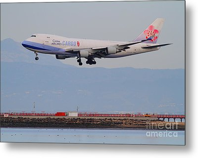 China Airlines Cargo Jet Airplane At San Francisco International Airport Sfo . 7d12299 Metal Print by Wingsdomain Art and Photography