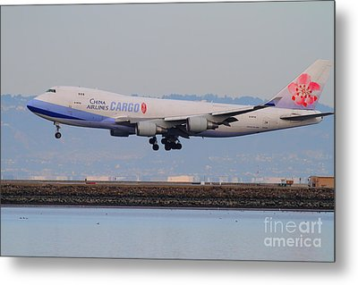 China Airlines Cargo Jet Airplane At San Francisco International Airport Sfo . 7d12301 Metal Print by Wingsdomain Art and Photography