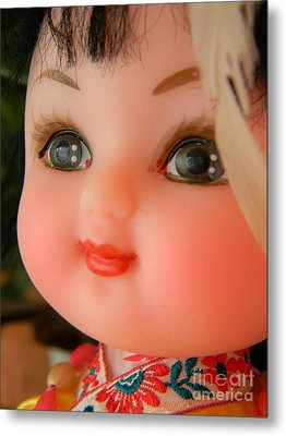 China Doll Metal Print