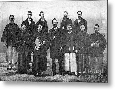 China: Missionaries, 1876 Metal Print by Granger
